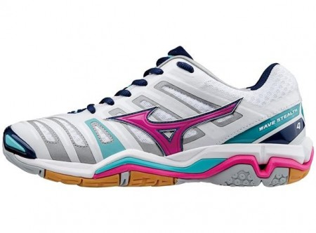 Mizuno Wave Stealth 4 White/turkis Lady