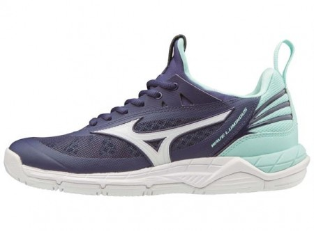 Mizuno Wave Luminous W Mørk Blå/Turkis