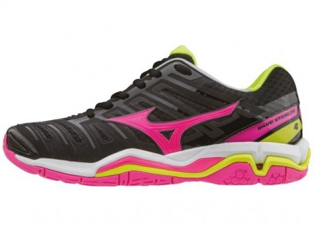 Mizuno Wave Stealth 4 Sort/Rosa Lady